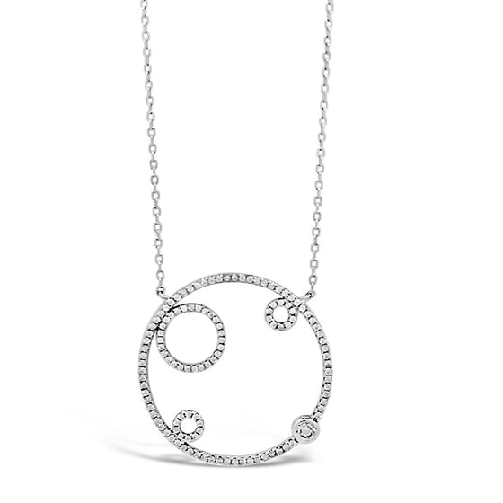 Absolute Sterling Silver Large Open Circle Necklace