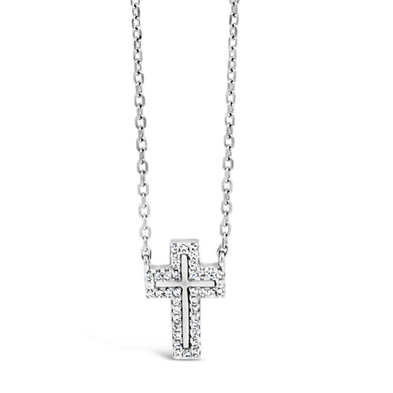 Absolute Sterling Silver Cross Necklace