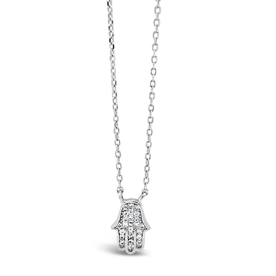 Absolute Sterling Silver  Hamsa Necklace