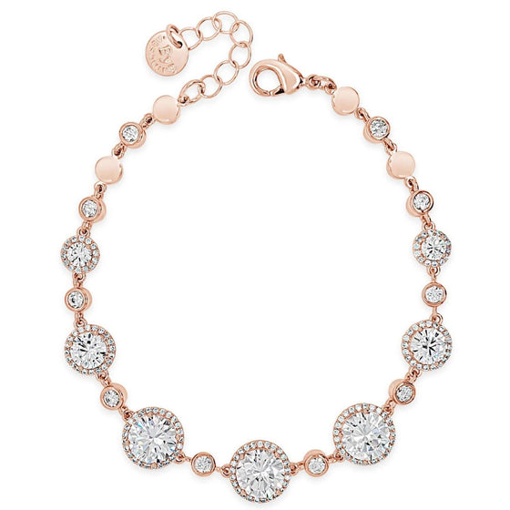 Absolute Rose Gold Cubic Zirconia Bracelet