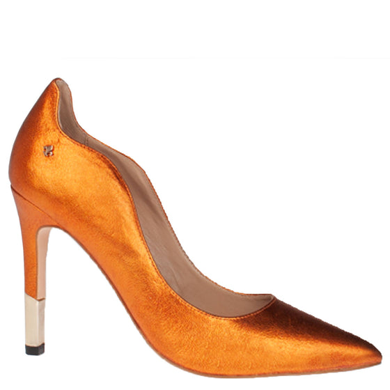 Bourbon Chalet Girl Orange Stiletto Shoes
