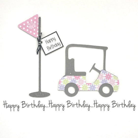 Happy Birthday Card - Ladies Golf
