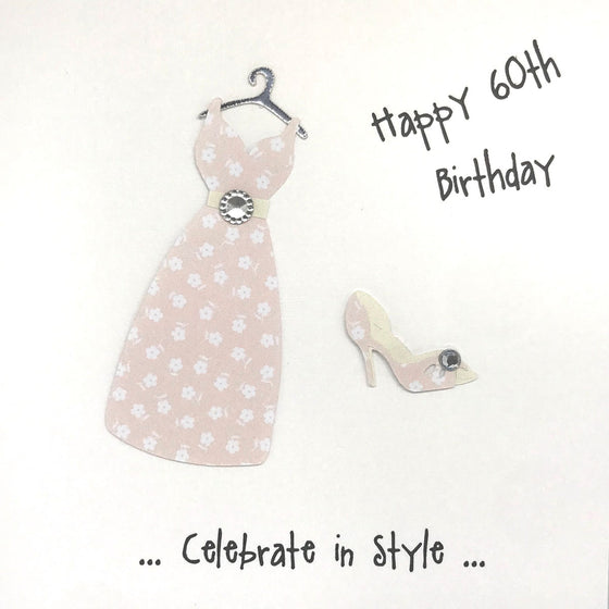 Happy 60th Birthday Card - Celebrate In Style