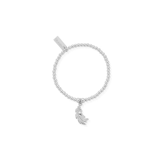 ChloBo Kids Cute Charm Feather Heart Bracelet