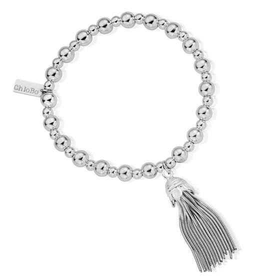 ChloBo Mini Small Ball Tassel Bracelet