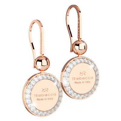 Rebecca Hollywood Large Rose Gold Drop Earrings