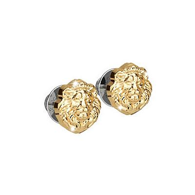 Rebecca Gold Lion Queen Small Stud Earrings