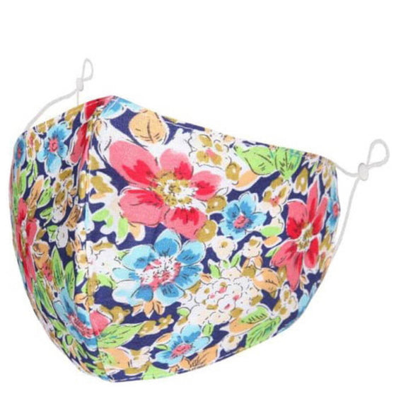 Floral Face Mask - Pink/Blue 580001