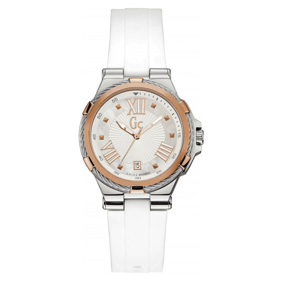 Gc Structura Cable White Watch