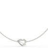 Guess Across My Heart Silver Necklace