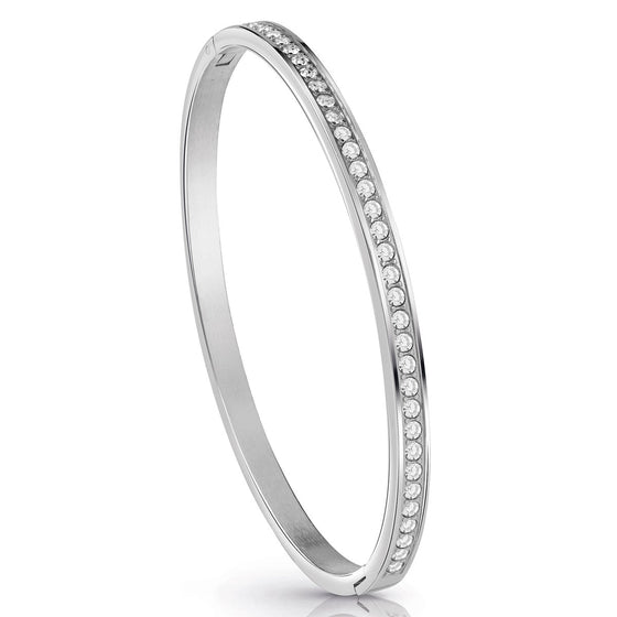 Guess All Around Silver Bangle