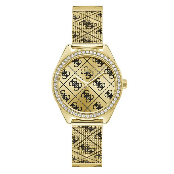 Guess Claudia Gold Logo Watch
