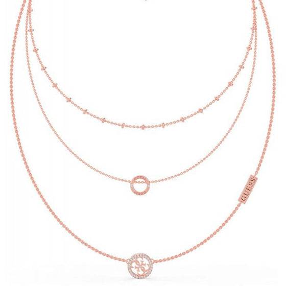 Guess Equilibre Rose Gold Layered Necklace