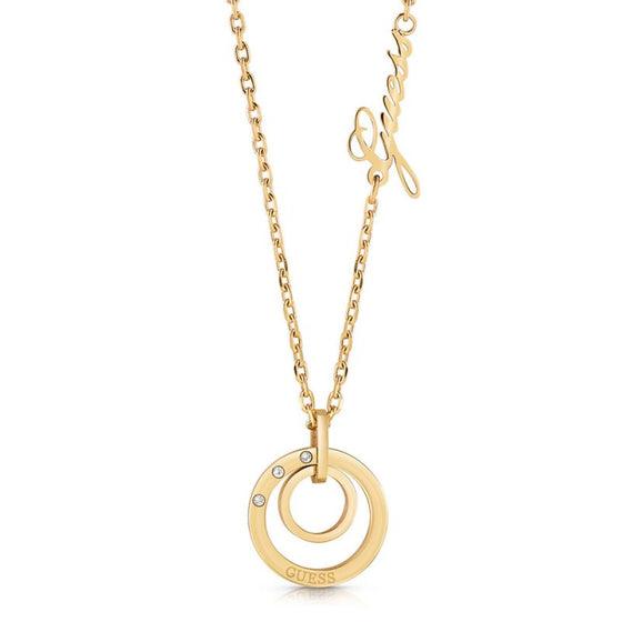 Guess Eternal Circles Gold Necklace