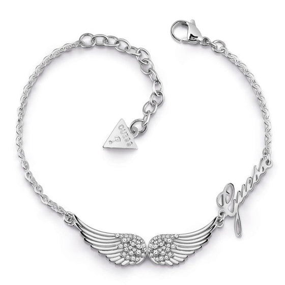 Guess Fly With Me Silver Wing Bracelet