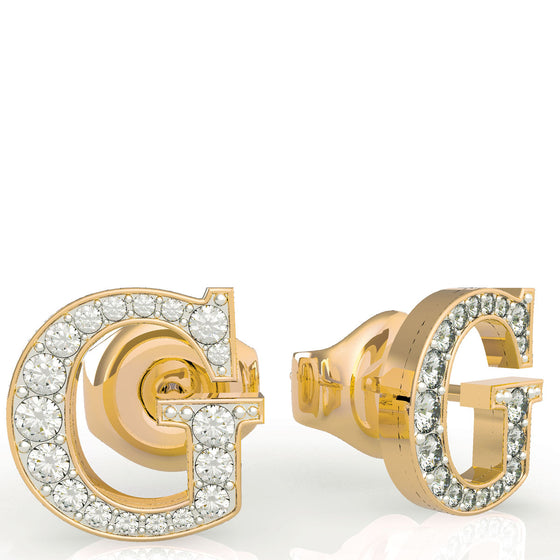 Guess G Logo Gold Stud Earrings