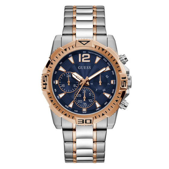 Guess Gents Commander Silver & Rose Gold Watch