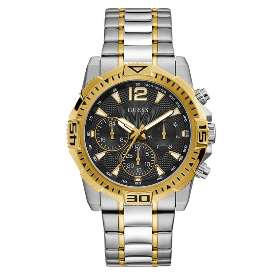 Guess Gents Commander Silver & Gold Watch