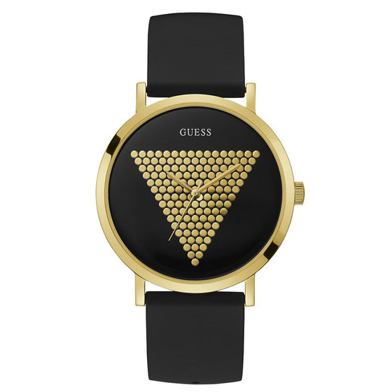 Guess Imprint Gold Watch