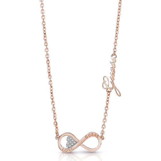Guess Endless Love Rose Gold Necklace