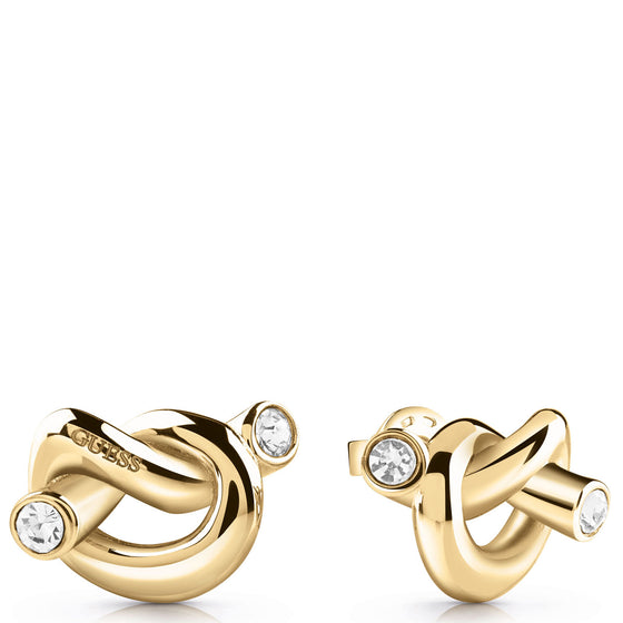 Guess Knot Gold Earrings