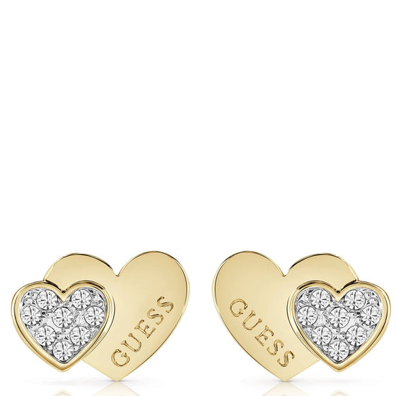 Guess Me & You Gold Stud Earrings