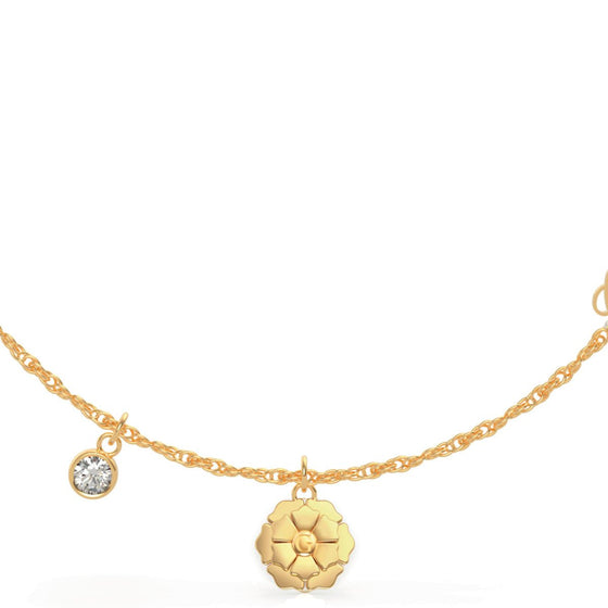 Guess Peony Gold Necklace