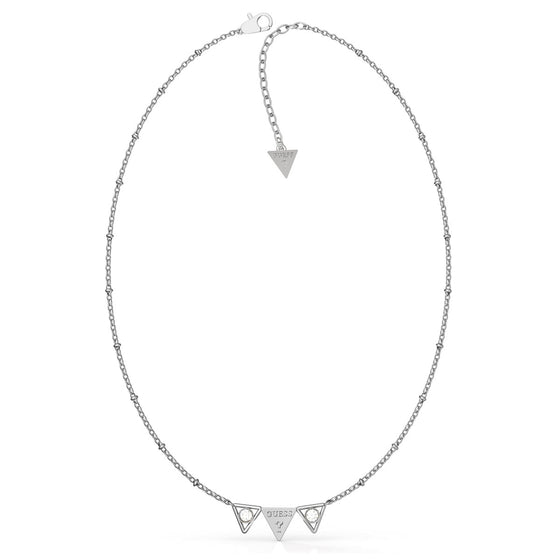 Guess Queen Of Hearts Silver Necklace