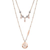 Guess Tropical Sun Rose Gold Necklace