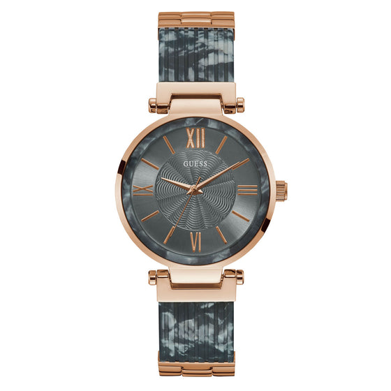 Guess Soho Grey & Rose Gold Watch