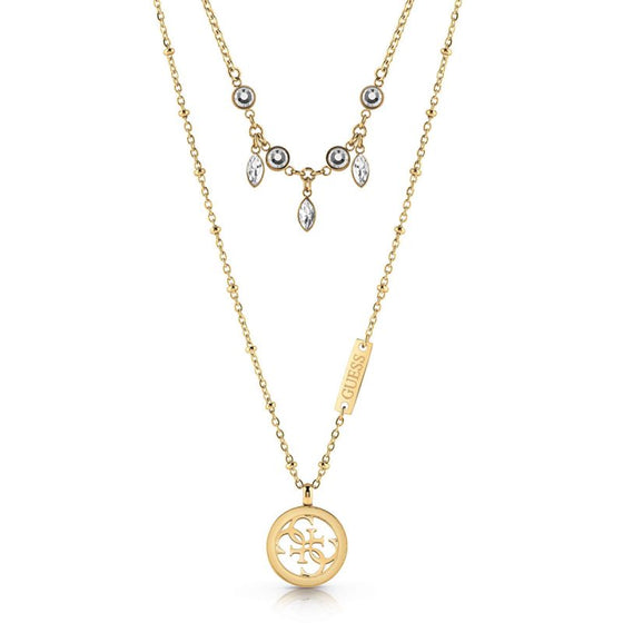 Guess Tropical Sun Double Gold Necklace