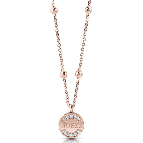 Guess UpTown Chic Rose Gold Necklace