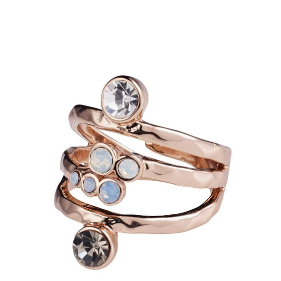Pilgrim Joy Rose Gold Grey Ring