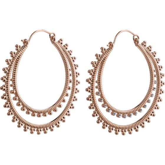 Pilgrim Joy Rose Gold Hoop Earrings