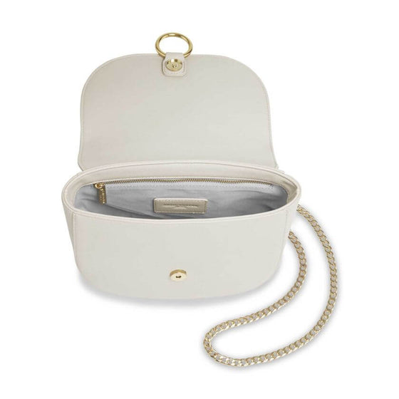 Katie Loxton Lucia Saddle Bag - Taupe Grey