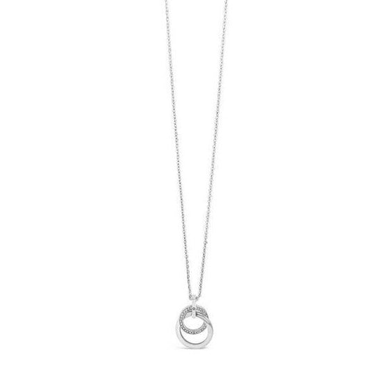 Absolute Silver Double Circle Necklace