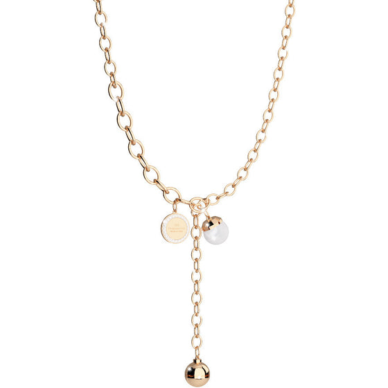 Rebecca Hollywood Gold & Pearl Necklace