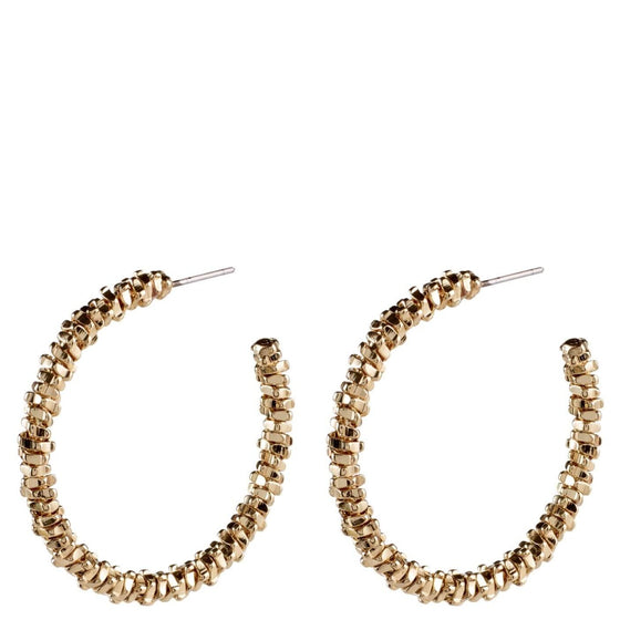 Pilgrim Noa Gold Hoop Earrings