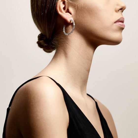 Pilgrim Noa Silver Hoop Earrings