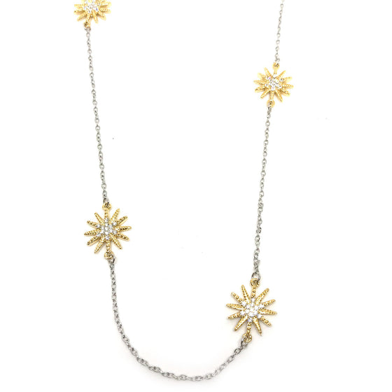 Nour Gold & Silver Star Necklace