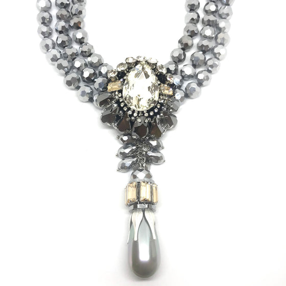 Nour Grey Statement Necklace