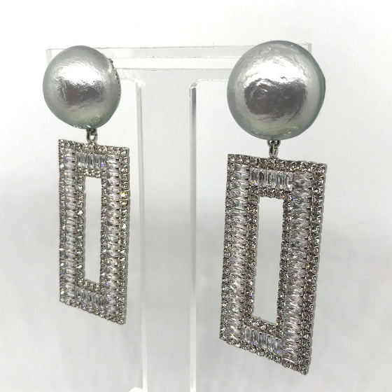 Nour Large Pearl Drop Earrings