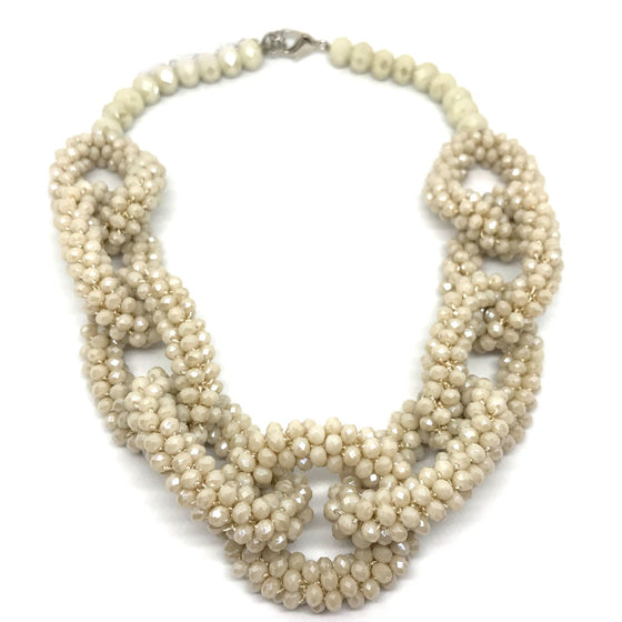 Nour Nude Beaded Necklace