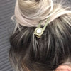 Nour Pearl Hair Slide - Khaki