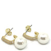 Nour Pearl Small Drop Earrings - Gold