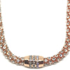 Nour Rose Gold Crystal Magnetic Necklace