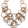 Nour Rose Gold Multi Circle Necklace