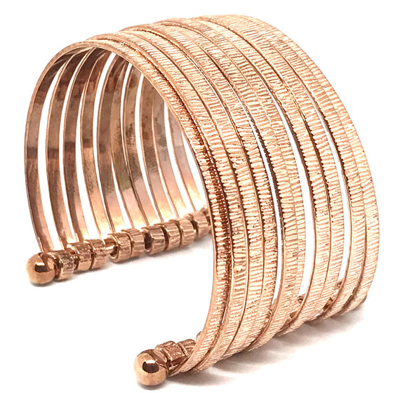 Nour Rose Gold Multi Link Cuff Bangle