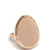 Nour Rose Gold Oval Nude Enamel Ring