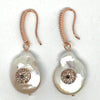 Nour Rose Gold & Pearl Drop Earrings